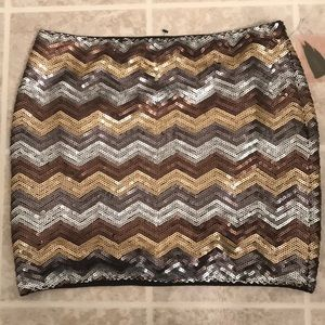 NWT Forever 21 Sequenced Mini Skirt, Sz S